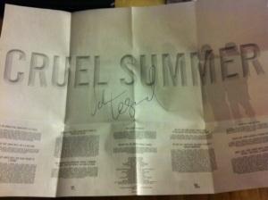 "Signed ""Cruel Summer"" CD"