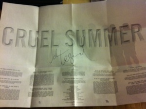 "Signed ""Cruel Summer"" CD"
