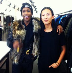 A$AP Rocky with designer Alexander Wang