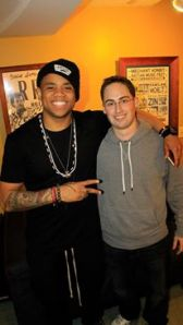 Me with Mack Wilds  December 24, 2013