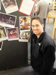 A picture of my interview with Jadakiss on exhibit at the Cornell University Hip-Hop Archive