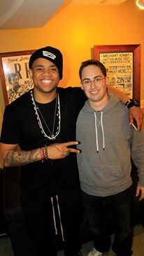 Me interviewing Mack Wilds in NYC - December 2013