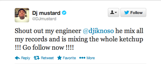 Mustard Tweet